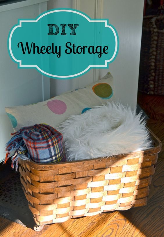 DIY Storage Basket Ideas - nice for next to the sofa with blanket, cushions and slippers