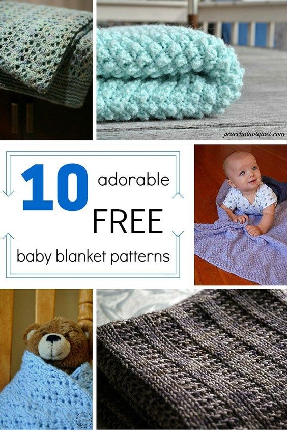 easy knitting patterns for baby blankets