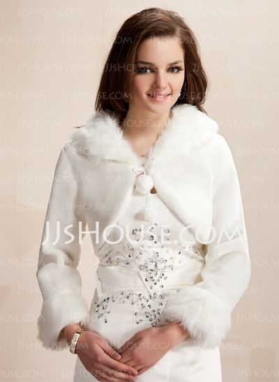 Wraps - $29.99 - Jackets/Wraps Wedding Wool Wraps With Long Sleeve (013020419) http://jjshouse.com/Jackets-Wraps-Wedding-Wool-Wraps-With-Long-Sleeve-013020419-g20419