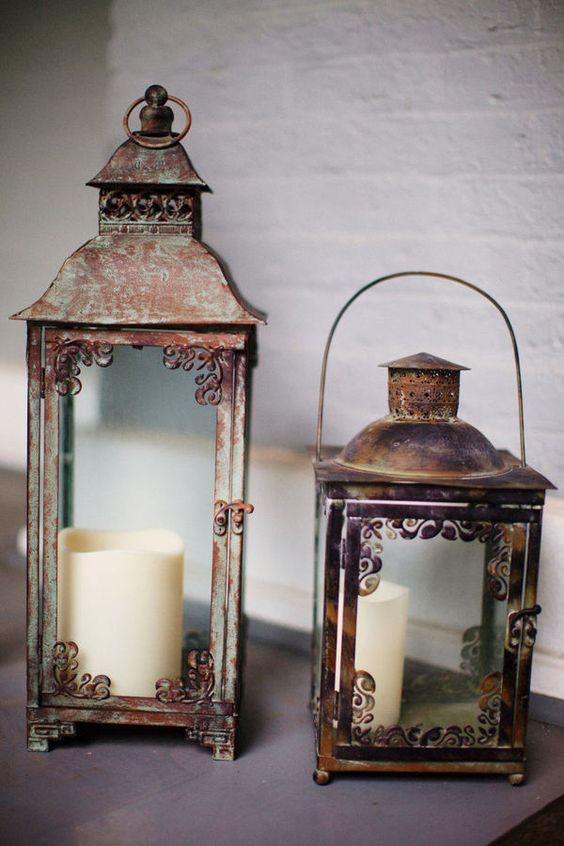 Vintage/Antique Decor: Antique Lanterns, Vintage Antique, Vintage Lanterns, Antique Decor, Rustic Lanterns, Candles Lanterns, Old Lanterns, Vintage Decor