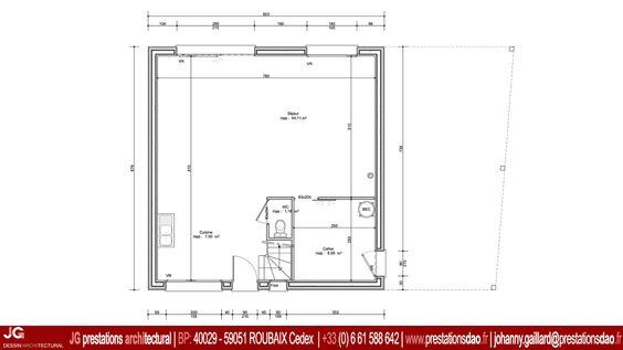 JG Dessin Architectural - RdC pour Permis de construire d'une maison passive à CAMPHIN EN CAREMBAULT (59133)