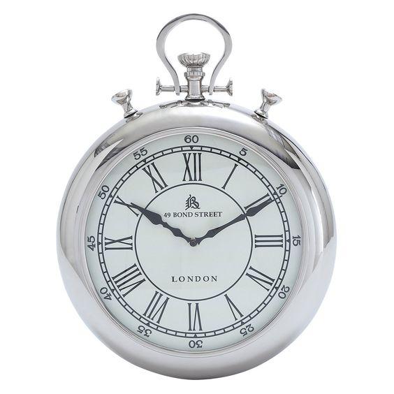 UMA Enterprises Metal Stopwatch Wall Clock   from hayneedle.com