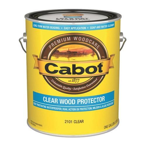 Cabot Wood Protector Clear Exterior Stain Actual Net Contents 128 Fl Oz At Lowes Com For Porch First Coat Und Staining Deck Semi Solid Stain Exterior Stain