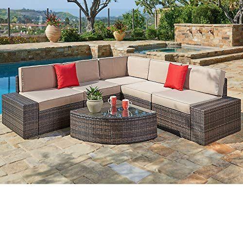 Suncrown Outdoor Furniture Sectional Sofa Patio Sofa Set