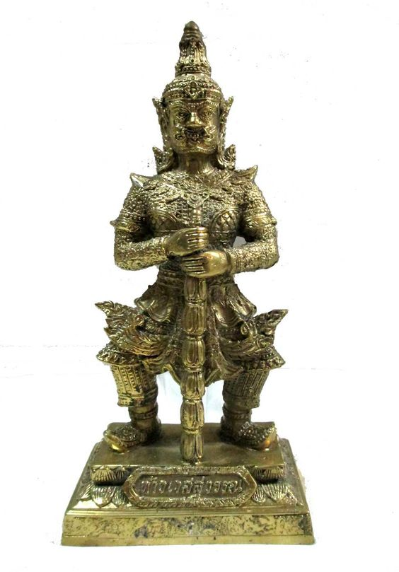 Vessavaṇa , called 'Thao Vessuwan' in thai, is the guardian of the northern direction, and his home is in the northern quadrant of the topmost tier