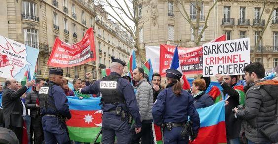 Ermenistan Paris'te protesto edildi