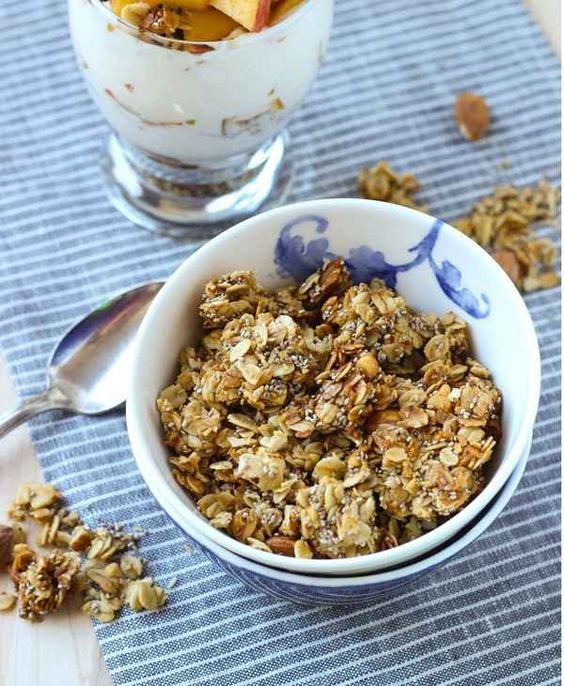 Honey Almond Chia Granola   31 Healthy And Delicious Ways To Cook With Chia Seeds