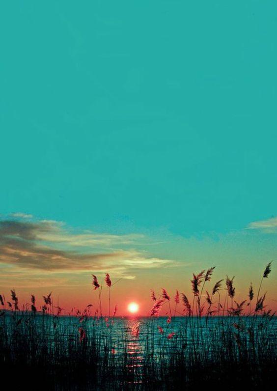 fond ecran gratuit paysage de la choucher de soleil pres du lac