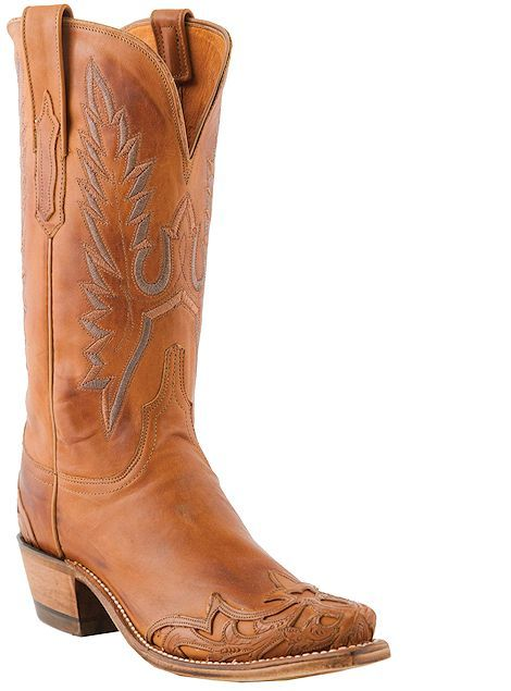 Lucchese 1883 Western Ranch Hand Wingtip N4750 Cognac, $439.00