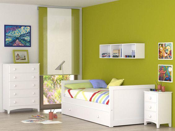 Nido Recto, las lineas mas sencillas y rectas hacen un dormitorio elegante y comodo. #nidoinfantil #dormitorioparaniños #habitacionjuvenil