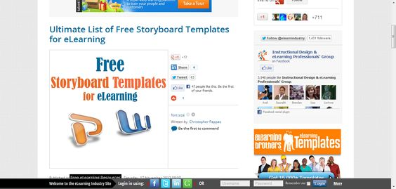 Ultimate List Of Free Storyboard Templates For Elearning  Course