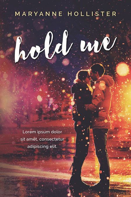 Romance Book Covers For Sale : Hold me winter romance pre made book cover for sale