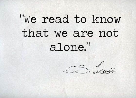 I love the characters I meet in books.
