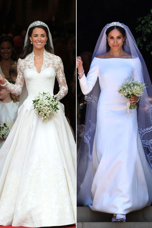 Royal Weddings Die Royalen Hochzeiten Im Vergleich Famous Wedding Dresses Megan Markle Wedding Dress Kate Middleton Wedding Dress