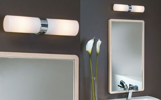 Double applique salle de bains design beaumont espace aubade ip 44 50 2 40w e14 presbyt re - Applique double sallede bain ...