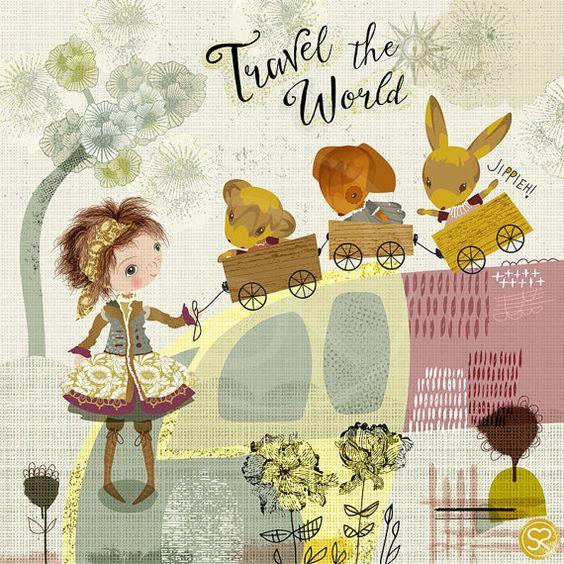 Cute whimsical Nursery Art Print by SabineReinhart