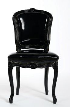 Open arm dining chair