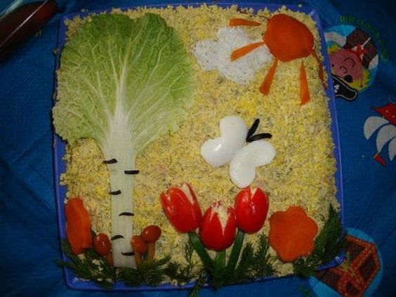 Идеи для оформления детских салатов 😃
