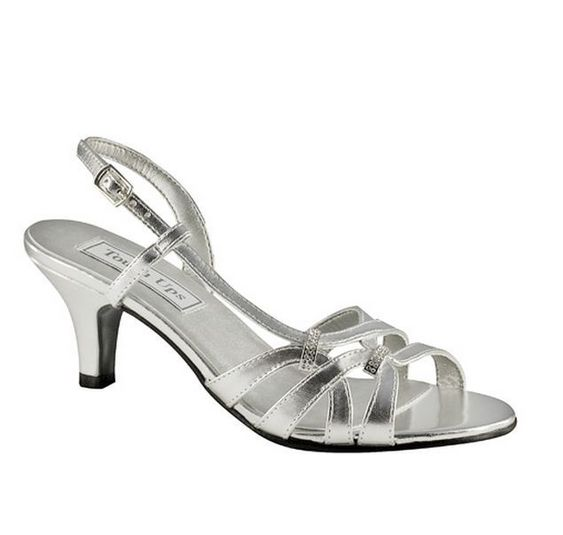 Details about WIDE WIDTH Woven Strappy Silver Slingbacks Dressy