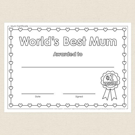 Mum Certificate - CleverPatch