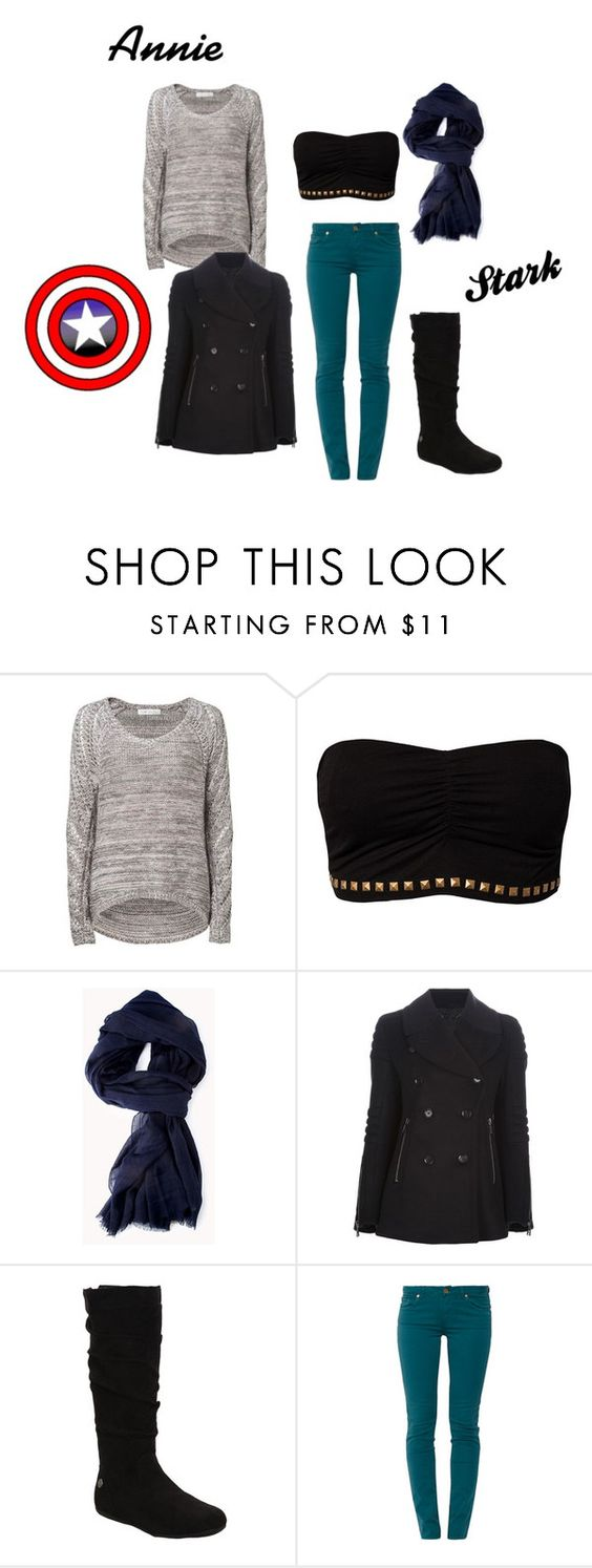 """""""Annie Stark"""" by natalie-674 ❤ liked on Polyvore featuring Forever New, F.A.V, Forever 21, Belstaff and 7 For All Mankind"""