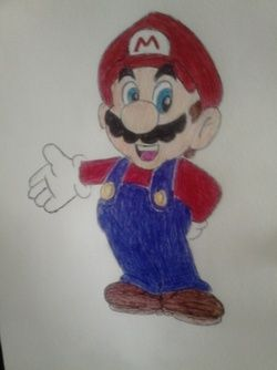 Day #18 - Mario Today, a speed Mario sketching for my son who like this game. And it's good: i haven't time for other things