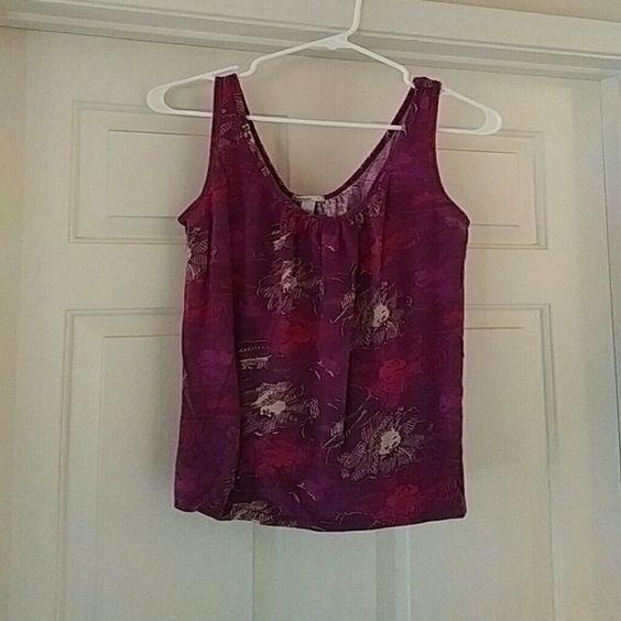 Flower print scoop neck tank Casual cotton scoop neck tank with flower print Old Navy Tops Tank Tops