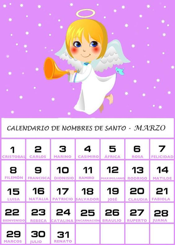 Calendario De Los Nombres De Santos De Marzo Word Search Puzzle Words Names