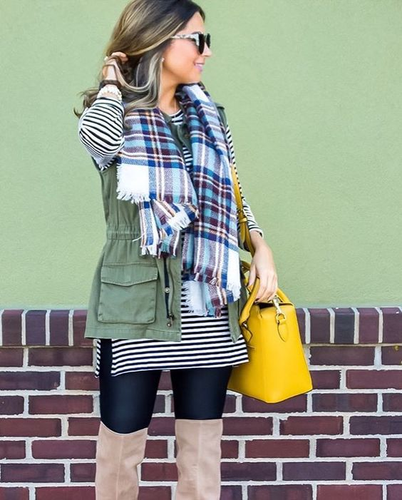 PSA for all you blanket scarf babes❣️ This beauty is under $15 right now and it's my favorite Fall staple! You're welcome 🤗 http://liketk.it/2psIV @liketoknow.it #liketkit #ltkunder50 #ltksalealert #fallfashion #stripes #plaid #blanketscarf #otkboots #nordstrom 📷 @freelymi