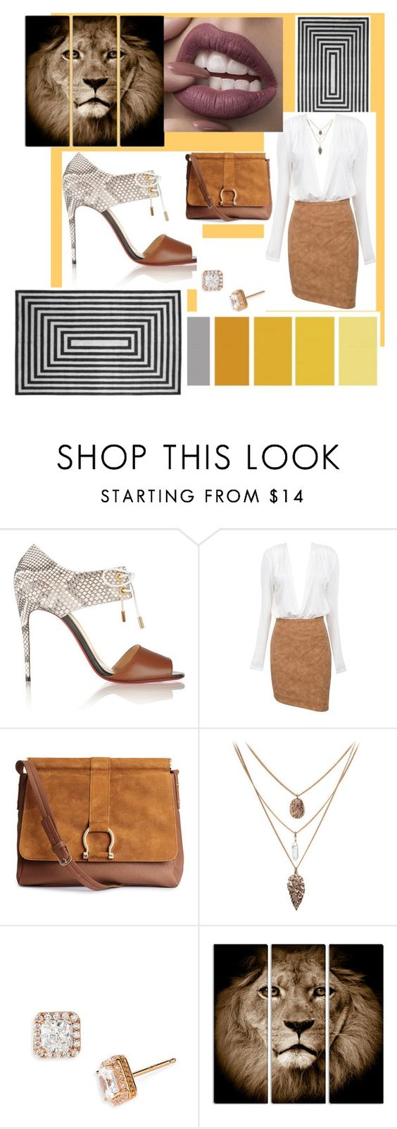 """""""Mystify"""" by krissybob ❤ liked on Polyvore featuring Christian Louboutin, H&M and Nordstrom"""