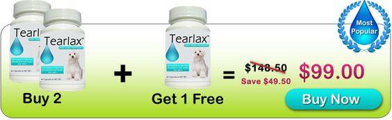 Buy 2 Bottles of Tearlax Get 1 Bottle Free