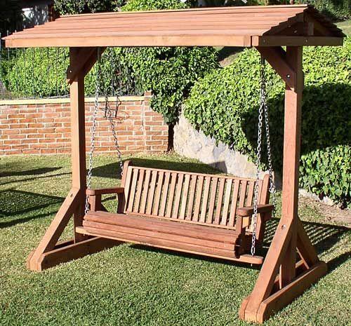 Stand Alone Swing Frame Wooden Garden Swing Outdoor Swing Garden Swing