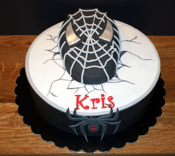 Black spiderman cakes - photo#31