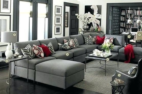 Awesome Gray And Red Living Room For Grey Couches Red Accents Love 26 Red Black Gray Liv Black Grey Living Room Grey And Red Living Room Living Room Decor Gray