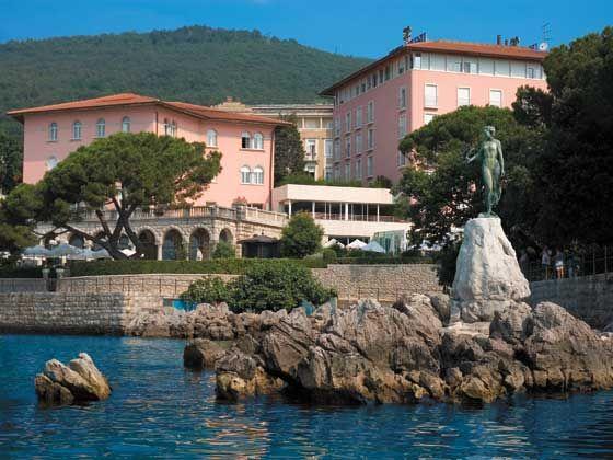 Hotel Milenij In The Lovely Town Of Opatija Croatia The Hotel Runs Along The Lungomare Seaside Promenade On The Adriati Croatia Holiday Croatia Travel Hotel