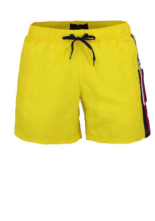 Tommy Hilfiger Badeshorts Sf Medium Drawstring Zierstreifen Sonnengelb Badeshorts Mode Oberhemden