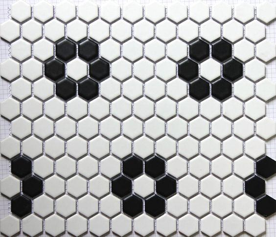 Economico sicis nero bianco esagonale ceramica mosaico cucina ...