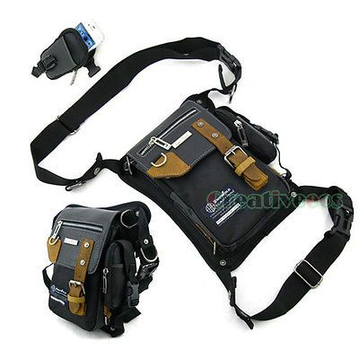 Men's Motorcycle Riding Travel Messenger Hip Bum Belt Waist Leg Thigh Drop Bag