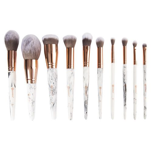 Marble Luxe 10 Piece Brush Set Makeup Brush Set How To Clean Makeup Brushes Beauty Bay