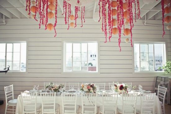 @Cassandra LaValle's party - love the pops of orange and pink (my fave)