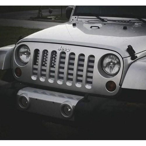 American Flag Greyscale Jeep Grill 1 2 Week Delivery