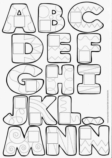 Escuela Infantil Castillo De Blanca Alfabetos Colorear Moldes De Letras Abecedario Apliques De Letras Tipos De Letras Abecedario