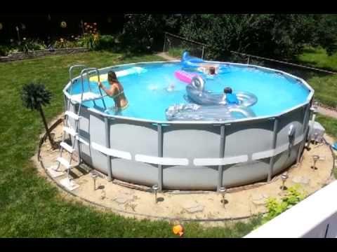 Intex 18 By 52 Ultra Frame Pool Intex Hot Tub Youtube Outdoor Pool Area Pool Diy Swimming Pool