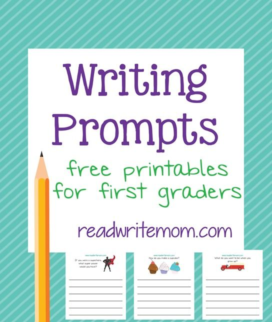 First grade writing prompts - 8 pages of free writing prompts that are great for practicing handwriting and thinking skills.