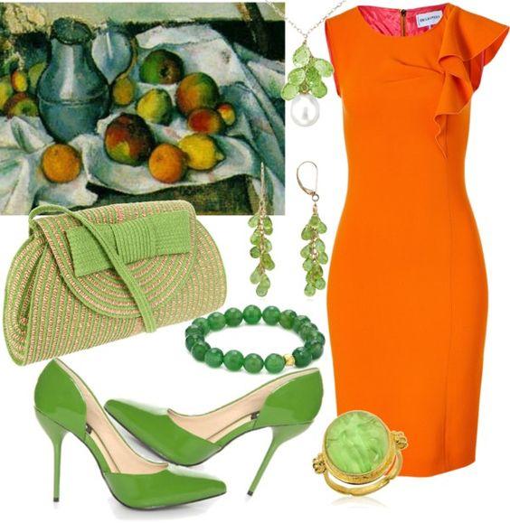 Naranja y ... verde!!