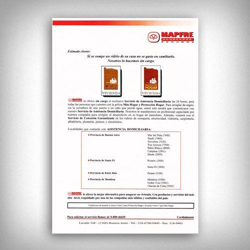 Carta De Asistencia Domiciliaria Mapfre Aconcagua Cuchillos Personalizados Cartas Argentina