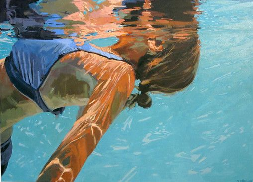 Samantha French painting  a fellow underwater painter :)
