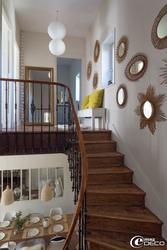 Décoration d'une cage d'escalier 569cba60d8e997201964f9c81845bb8d