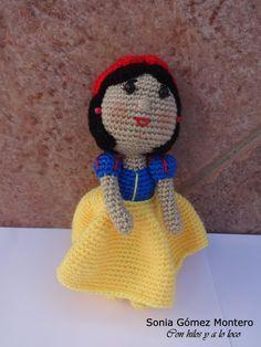 Princesa Blancanieves Amigurumi - Patrón Gratis en Español aquí: http://ainoslabores.blogspot.it/2015/02/blancanieves.html