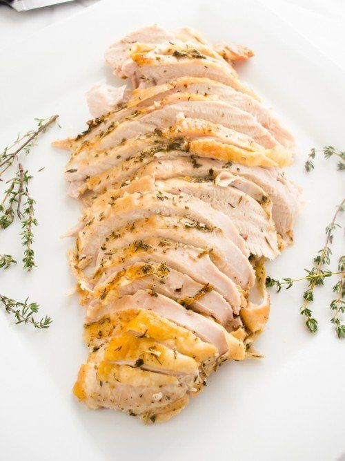 Simple  herb garlic roasted turkey breast - 24 Delicious & Low-carb Thanksgiving Recipes - OurMindfulLife.com